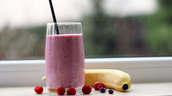 Smoothie from berries and fruits